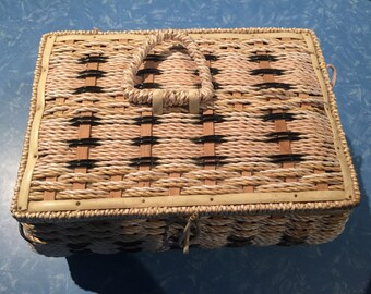 Sweet Vintage Sewing Basket