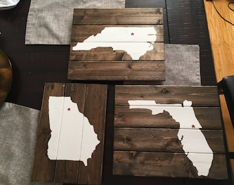 Wooden states ( The places you've lived)