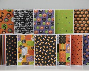 12 Halloween Note Cards. Blank Halloween Card Assortment. Halloween Greeting Cards. Pumpkin Card. Black Cat Card. Halloween Party Invitation