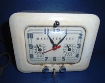 Antique kitchen clock with electrical timer / Vintage Westinghouse Clock / Westinghouse timer / Clock  / appliance timer / vintage clock
