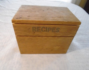 1967 Wooden Recipe box