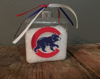 Chicago Cubs Christmas Ornament - Baseball Ornament - Holiday
