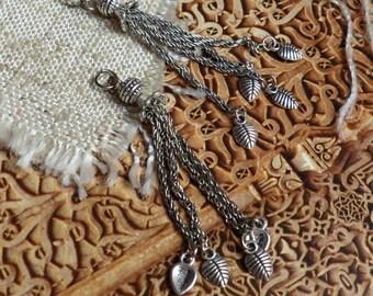1 pompon Moroccan ethnic silver metal