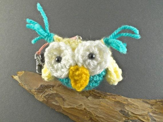 Amigurumi Owl Keychain : Handmade Crochet Owl Keychain Owl Ornament Amigurumi Owl