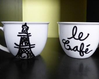 Set of two: Parisian Mugs