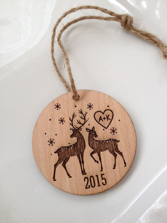 Personalized christmas ornament engraved by sweetpinehills for Custom engraved christmas ornaments