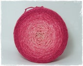 Pomegranate Pink* Gradient yarn Merino Silk hand dyed - fingering weight