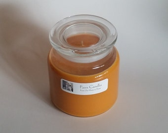 16oz Apothecary Pumpkin Pie candle with flat lid