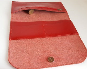 Womens leather wallet, Handmade womens wallet, Minimalist ladies purse, Slim wallet womens, Birthday gift, Wedding gift, Long wallet