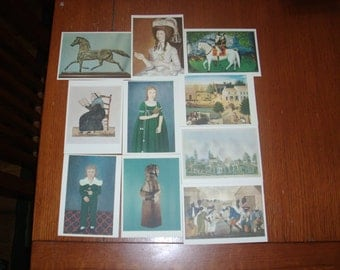 10 Vintage Abby Adrich rockefeller folk art collection post cards