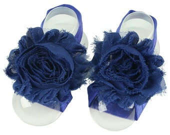 Royal Blue Barefoot Baby Sandals - Barefoot Baby Sandals - Royal Blue Sandals - Newborn Photo Prop - Barefoot Sandals - Crib Shoes