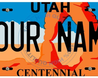 Personalized Custom Utah Car Vehicle License Plate Auto Tag