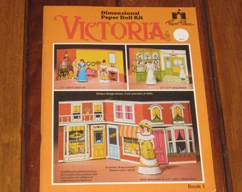 1981 VICTORIA Dimensional Paper Doll Kit Book 1 by Paper Palace (Uncut)