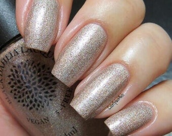 Copper Crelly Nail Polish with Shimmer and Micro Glitter -- Copper Lei