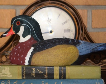 Duck decoy, Wood duck carving, Joe Revello wood duck