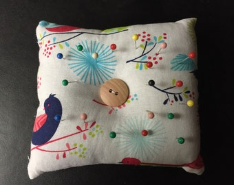 "Birdy pin cushion 4""x4"""