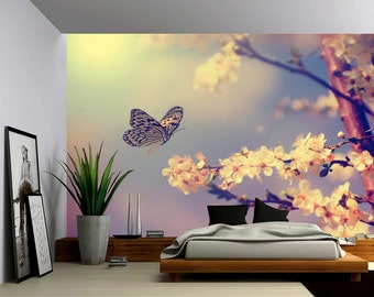 Butterfly Dream   Large Wall Mural, Self Adhesive Vinyl Wallpaper, Peel U0026  Stick