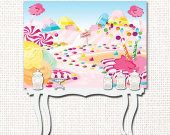 Candyland Backdrop - Printable