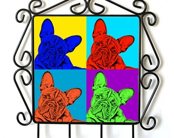 French Bulldog- clothes hanger with an image of a dog. Collection. Andy Warhol Style