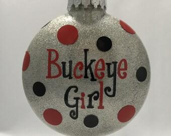 Buckeye Girl Ornament-Personalized