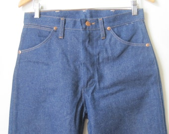 WRANGLER Vintage 1980s Jeans Size: 30 x 38 Mens Dark Wash 100% Cotton USA MP709