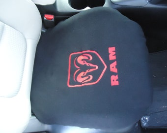 Bottom Seat Cover With Embroidered RAM Logo  Water Repellent This Price Is For One Cover Only. Also Come In Toyota, Jeep, And Chevy