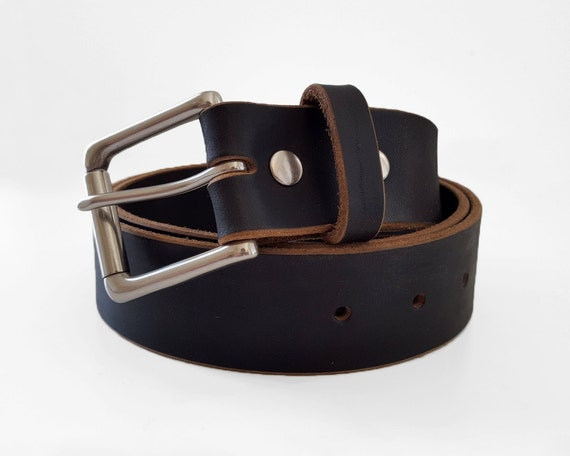 black chromexcel horween leather belt 1 5 w by shumdesigns