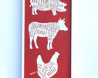 Butcher Cut Sign, Funny Kitchen Art, Funny Kitchen Sign, Butcher Art, Diagram Cuts of Meat, Butcher Chart, Meat Cuts Sign, Butcher Diagram