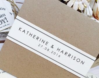 1 Vintage/Rustic Pocket Style 'Katherine' Wedding Invitation SAMPLE with env's