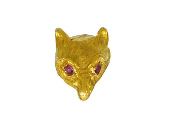 Fox Head Tie Tack