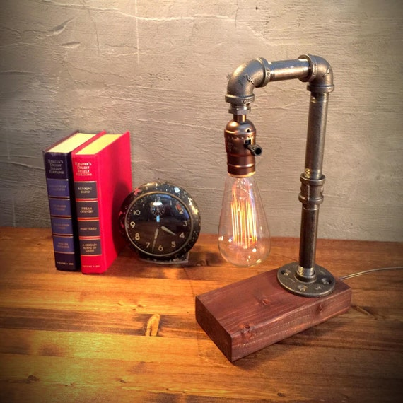 Unique Light Table Lamp Steampunk Light By Urbanedison On Etsy