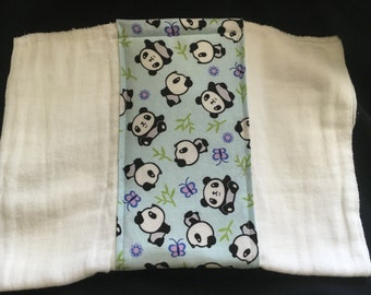 Pandas Burp Cloth