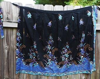 Beautiful Blue Wrap Around Skirt