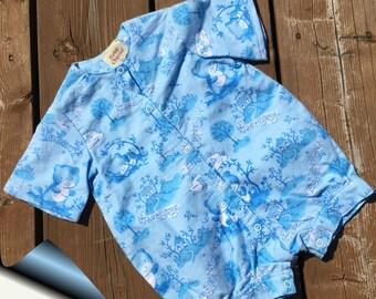 Baby Gift, Baby Boy Gift, Baby Girl Gift, Baby Bear Romper, 6 months
