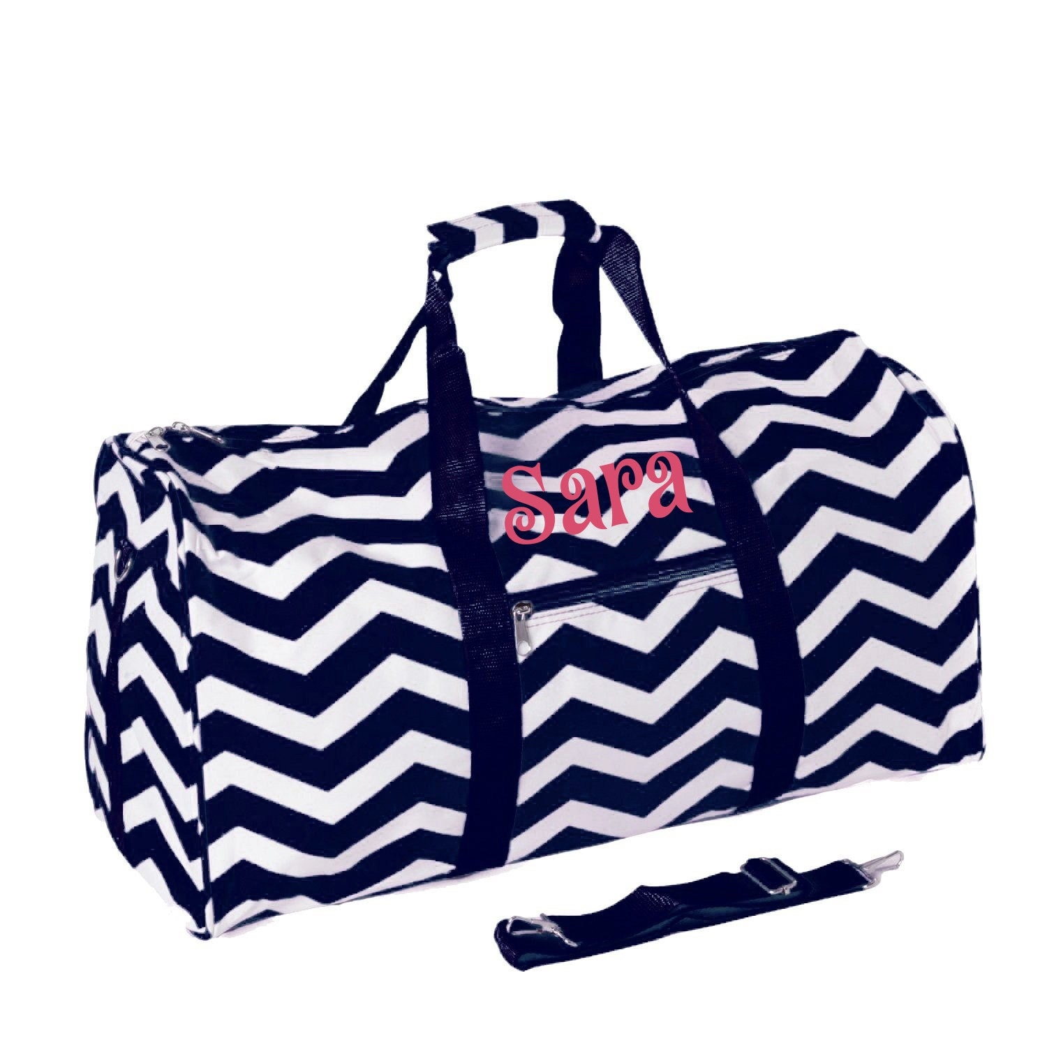 Women duffle bag monogrammed chevron by