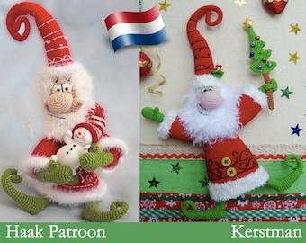 036NLY Kerstman, Haak patroon. Amigurumi PDF by Borisenko Etsy