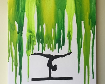 Gymnast Melted Crayon Art