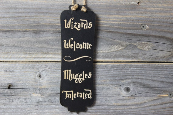 Harry Potterdoor Knob Hangerwizards Welcomechalkboarddoor