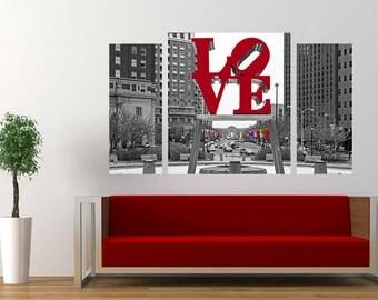 Philadelphia Love Park Triptych (31x51)