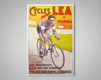 Cycles Lea et Norma Vintage Cycle  Poster - Poster Print, Sticker or Canvas Print