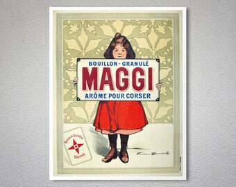 Bouillon Granule Arome Pour Corser Maggi Vintage Poster - Poster Print, Sticker or Canvas Print