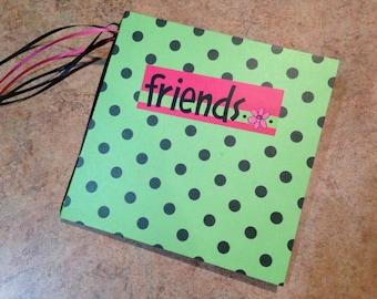Pre-made 7x7 Friends Scrapbook, handmade album