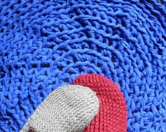 round finger crochet mat