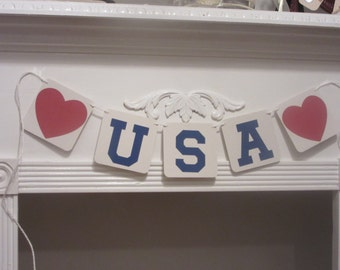 USA Banner Fourth of July Happy 4th of July