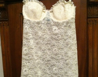 Ivory Lace Nighty by Victoria's Secret