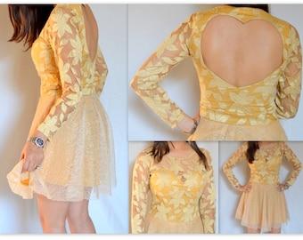 Lace Dress w/ heart at back