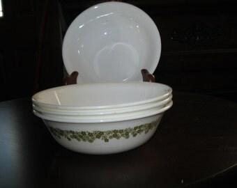 crazy dasiy cereal bowls .set of four.
