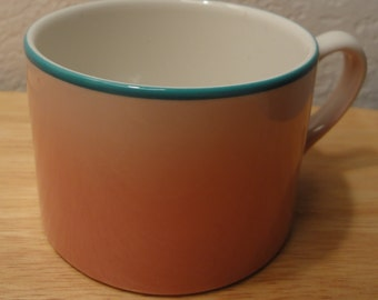 Vintage Pink With Turqoise Trim Homer Laughlin Mug