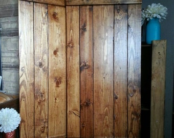 "RUSTIC wood shutter - 54"" Primitive shutters - Wooden Shutters - Farmhouse Shutters  Country Shutters -  Interior Exterior - Decor Shutters"