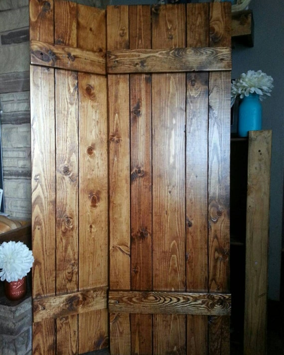 "RUSTIC wood shutter - 54"" Primitive shutters - Wooden Shutters - Farmhouse Shutters  Country Shutters -  Interior Exterior - Decor Shutters"